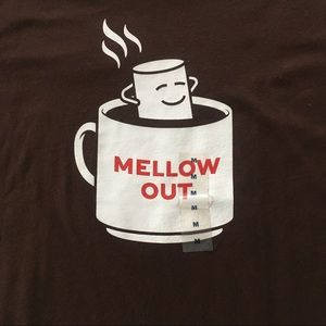 Old Navy Brown Mellow Out Marshmallow Graphic Tee